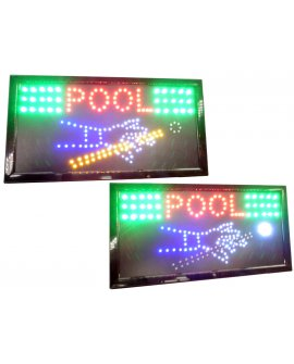 "LED SIGN ""POOL"""
