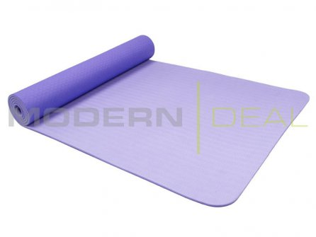 Yoga Mat - 6mm Non Slip TPE PURPLE