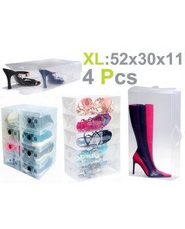 Plastic Shoe Box 4pk - XL