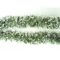 10m of Frosted Tip Tinsels - SILVER