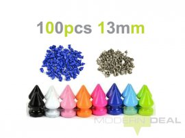 DIY Pale Blue Spikes - 13mm 100pcs