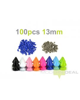 DIY Black Spikes - 13mm 100pcs