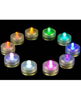Waterproof LED Candles - COLOUR