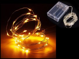 Wire String Lights (5m / 50 LED) - Yellow