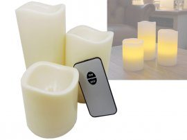 3pc Flameless LED Candles with Remote Control